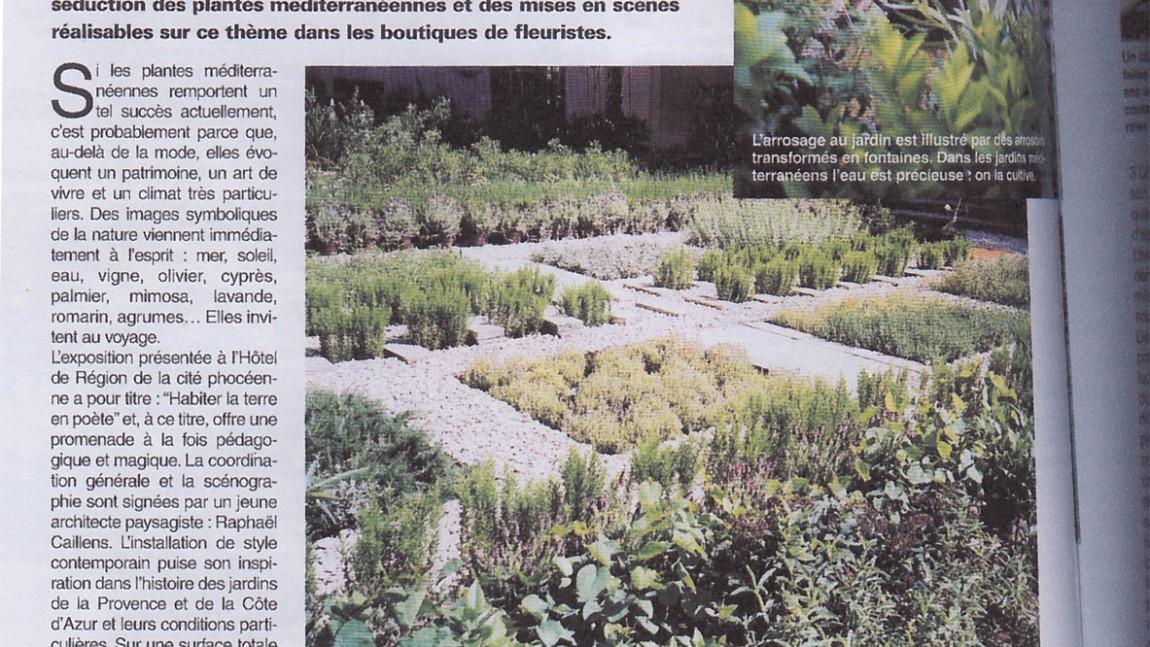 Parution dans le magazine «Informations fleuristes» été 2003