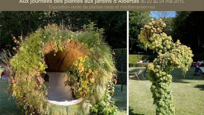 Catherine Cocherel aux «Journées des plantes 2015″ aux Jardins d'Albertas