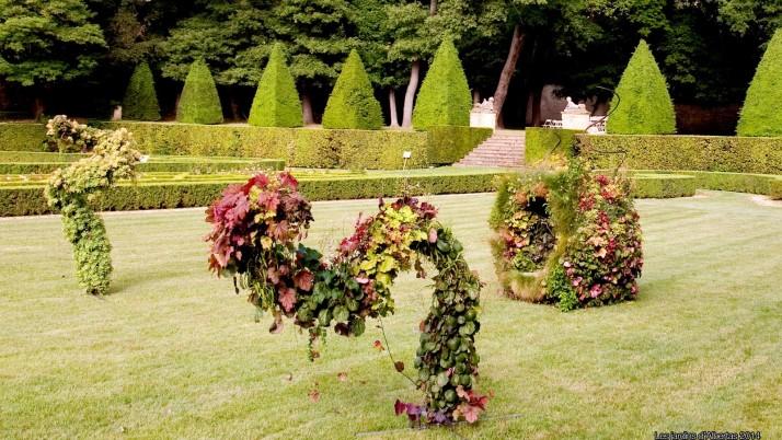 Sculptures et installations végétales